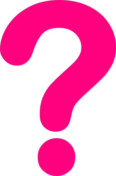 Pink question mark png