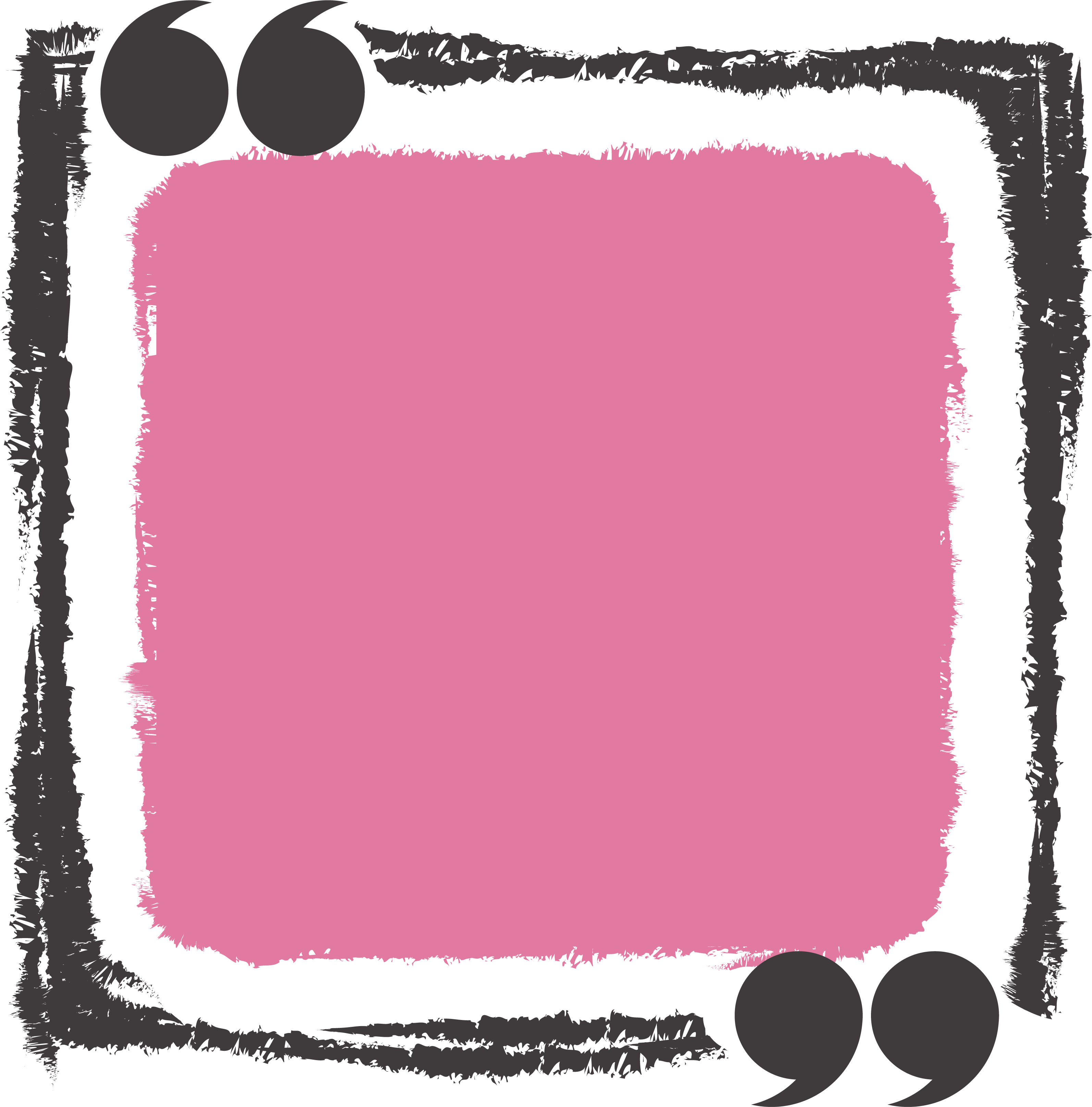 Pink rectangle png. Text box icon hand