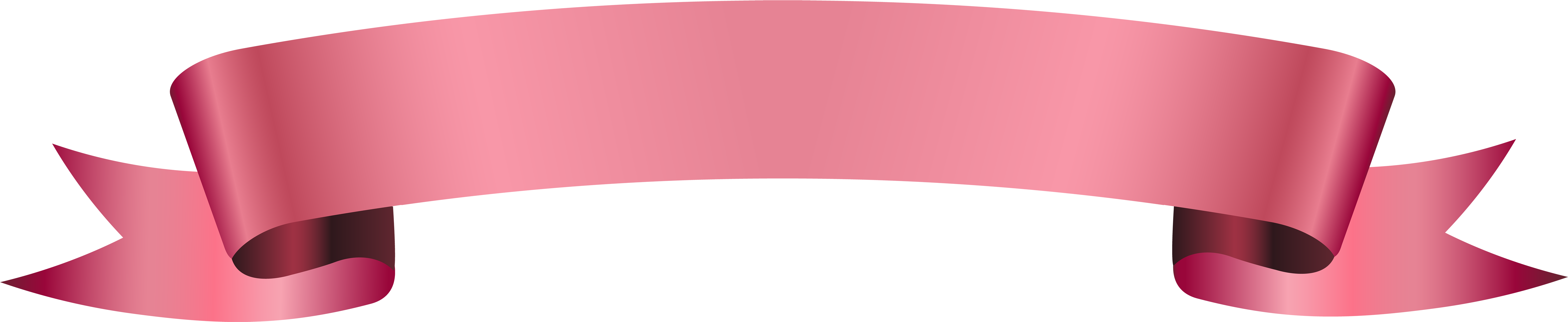 Pink ribbon banner png. Download image with no