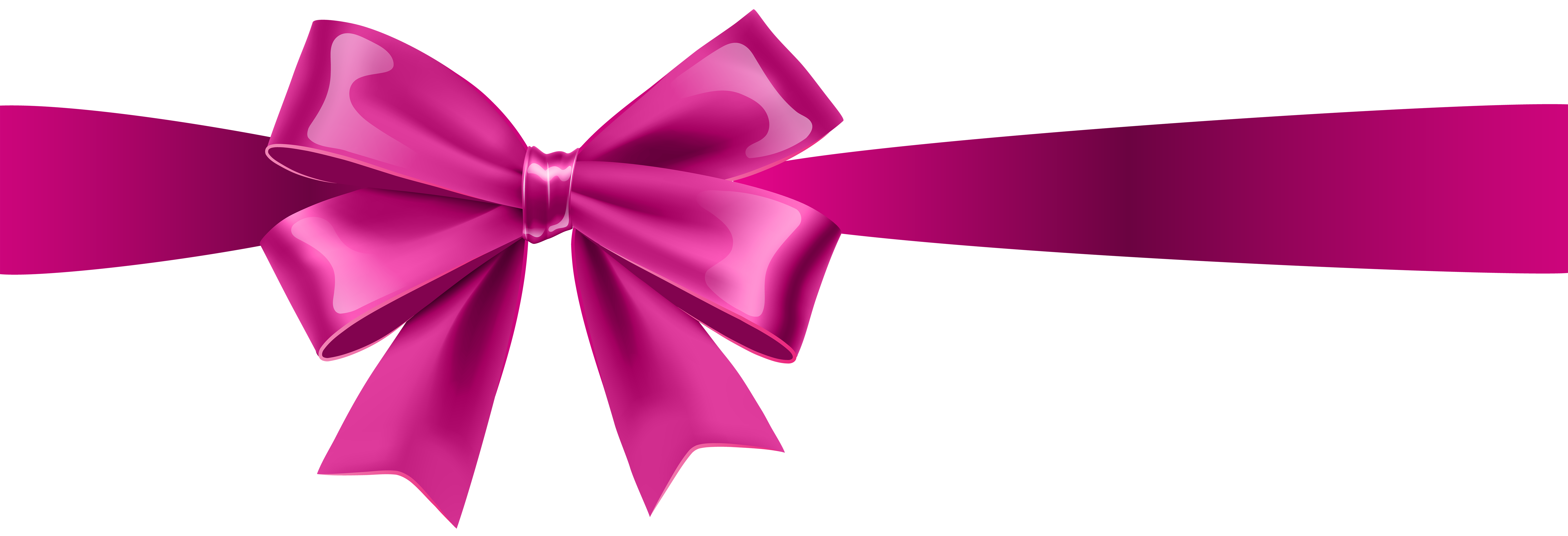 Pink ribbon bow png. Transparent clip art gallery