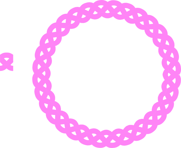Pink round frame png. Rope clip art at