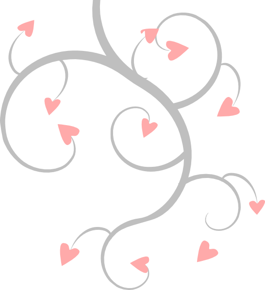 Pink scroll png. And grey heart clip