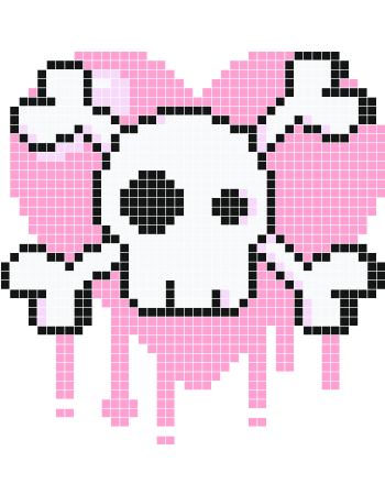 Pink skull png. Wall decals stickaz