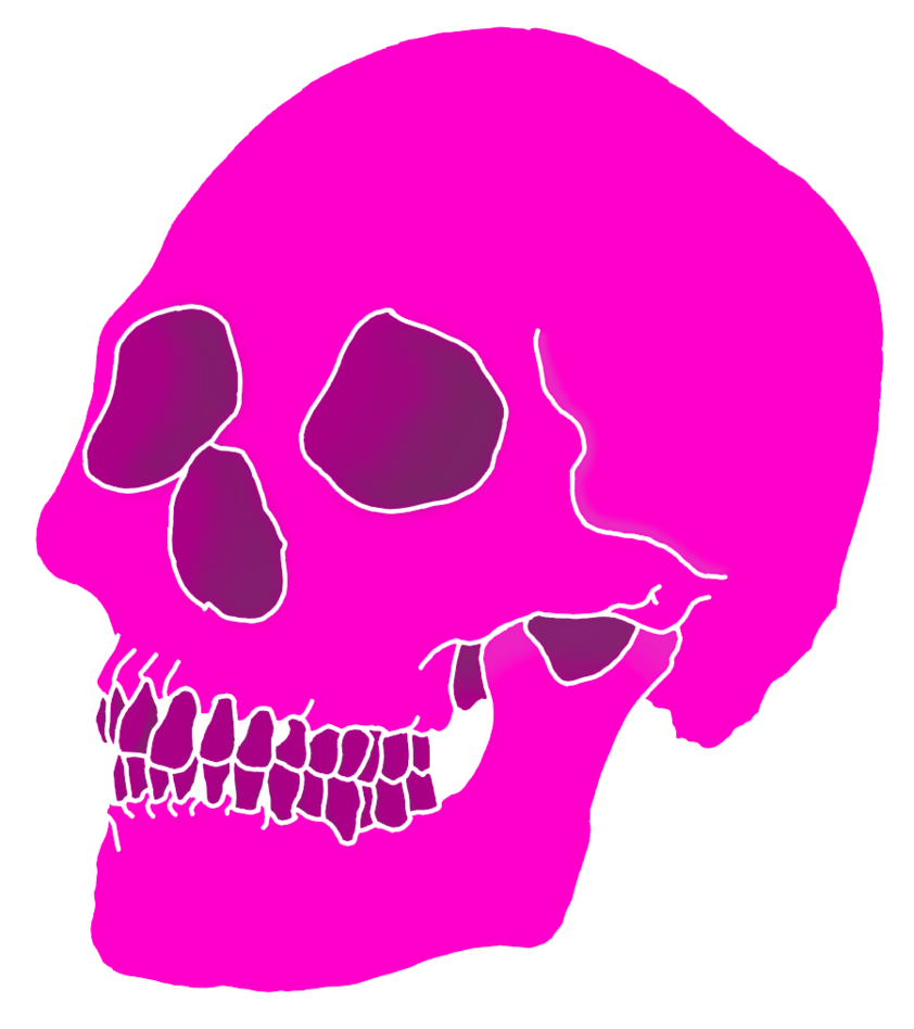 Pink skull png. Aesthetics by theyolocaust on