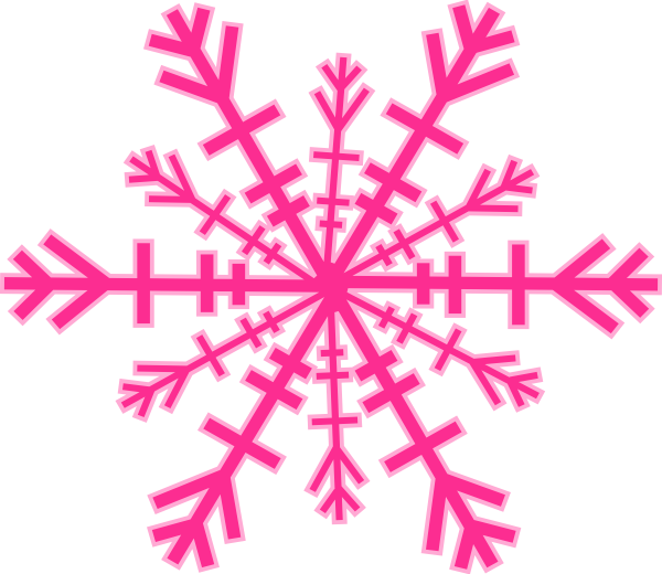 Pink snowflake png. Clipart