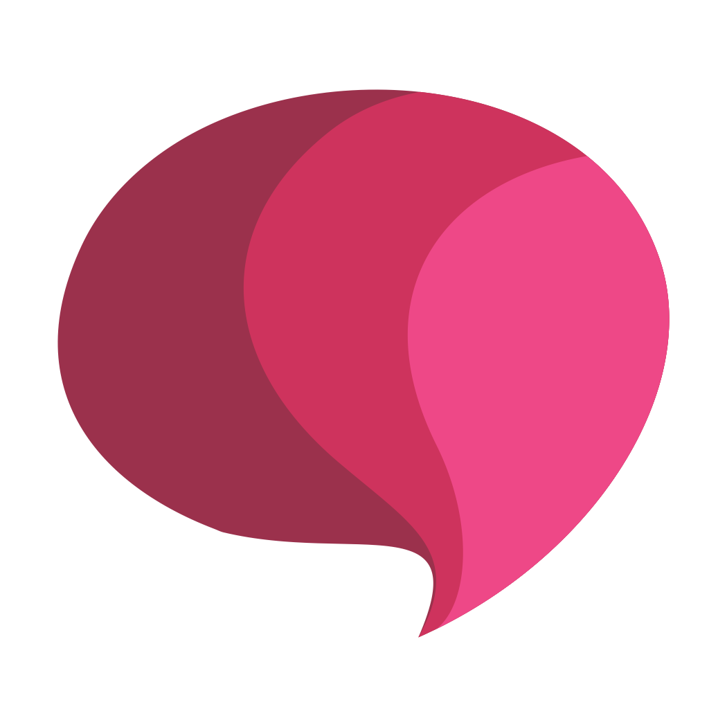 Pink speech bubble png. Paletly in transparent background