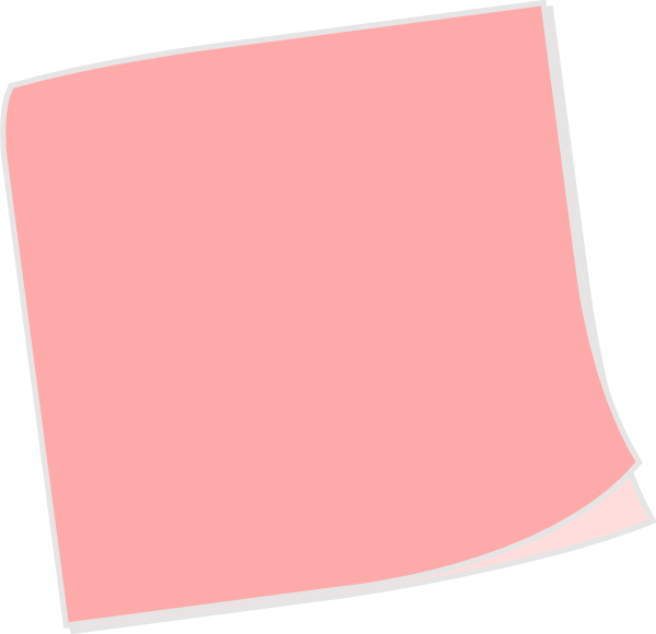 Post notes png. Pink sticky note image
