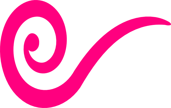 Pink clip art at. Swirl underline png freeuse library