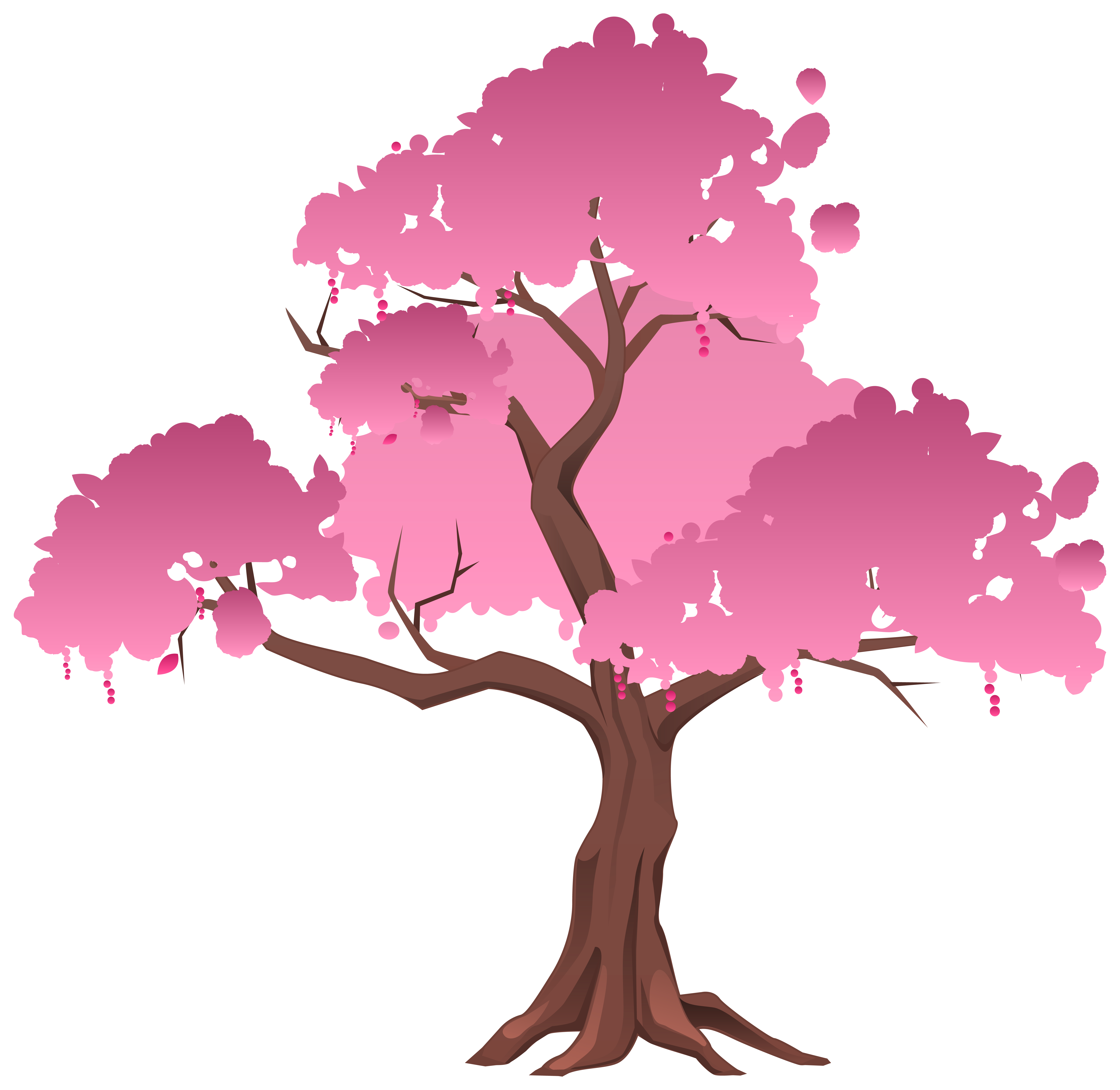 Pink trees png. Japanese tree clipart image