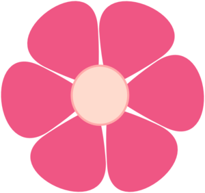 Pink vector. Flower encode clipart to