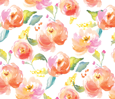 Pink watercolor flower png. Red and flowers fabric