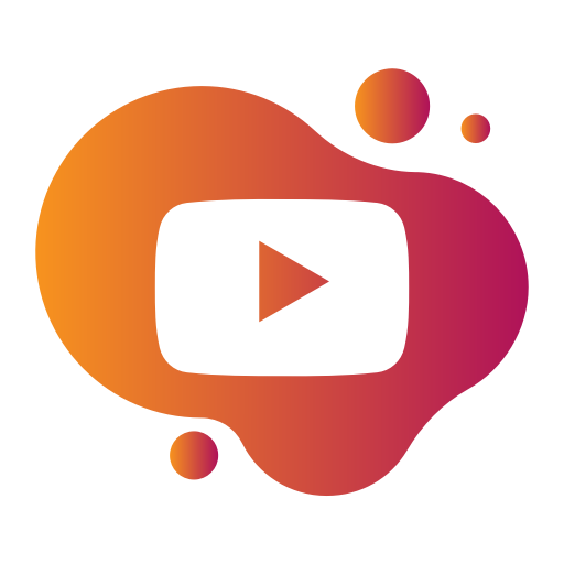 Pink youtube icon png. Bubble gradient social media