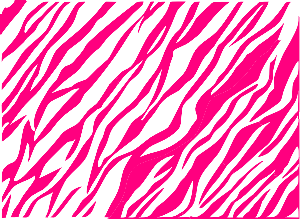 Pink zebra png. And white print background