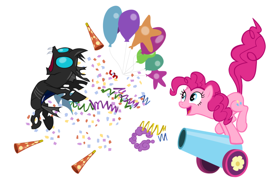 party horn confetti png