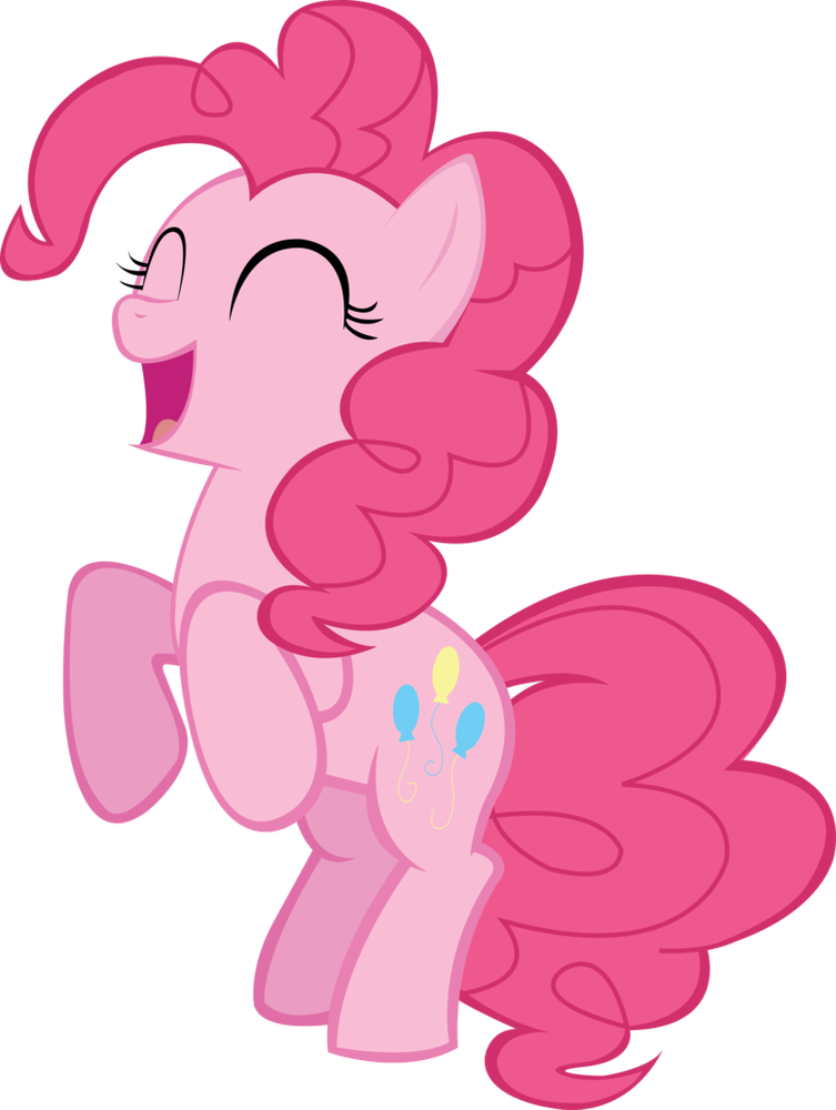 Character transparent my little pony. Pinkie pie happy reacting