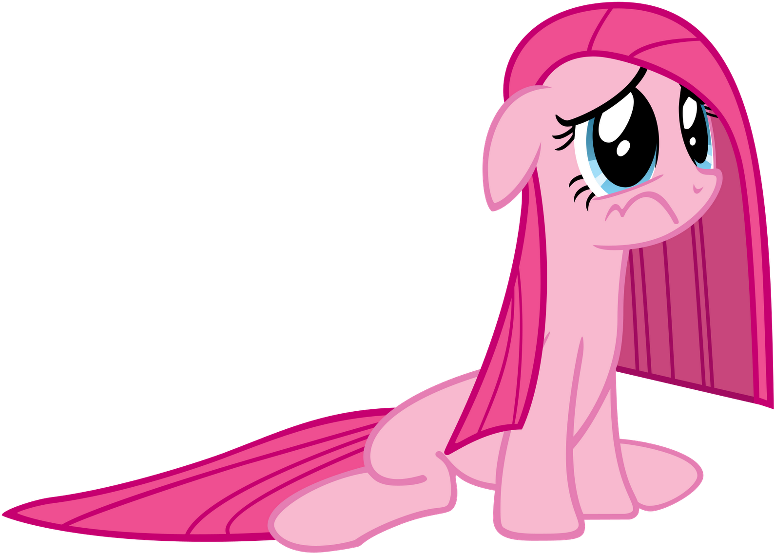 Pinkie pie sad png. Download with a deflated