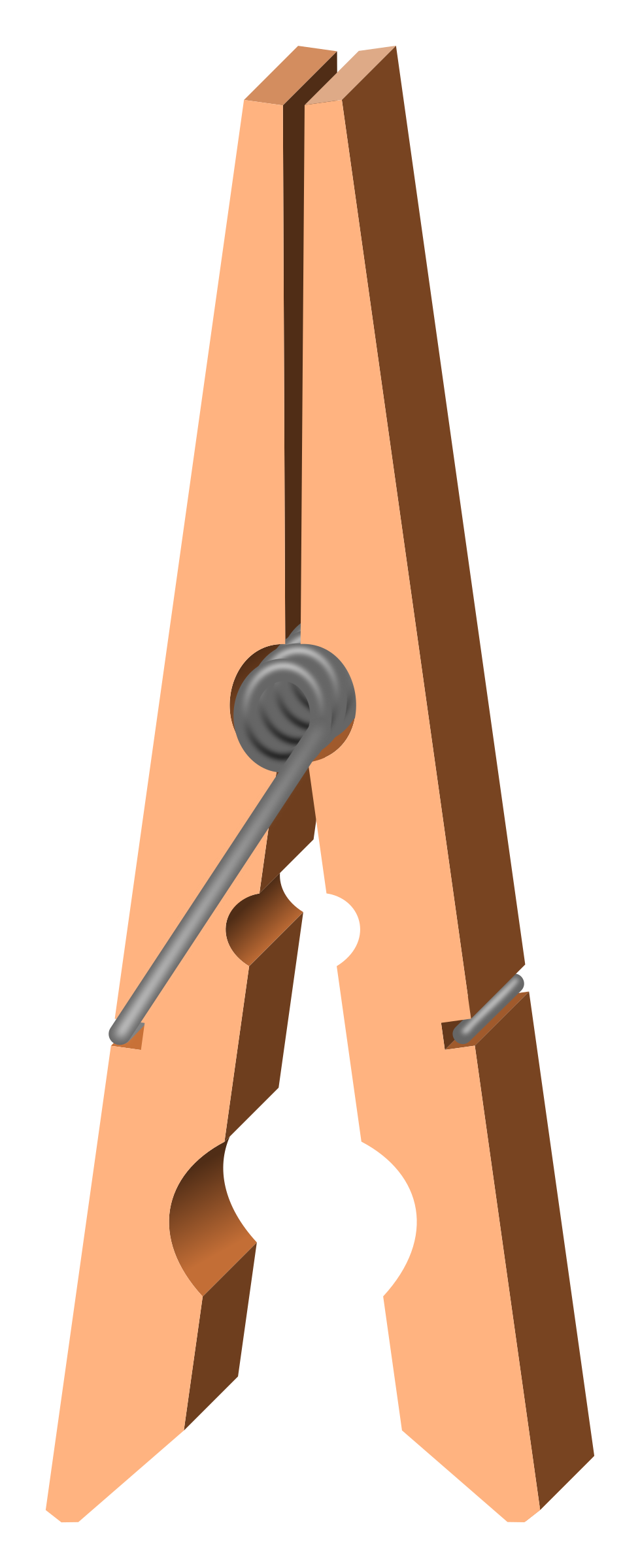 Pins clipart clothespin. Clothes peg open big