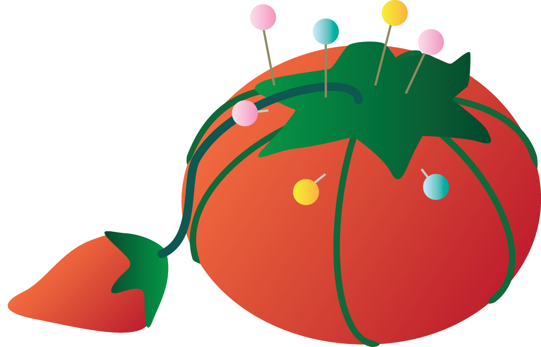 Sewing drawing pin cushion. Free clipart download clip