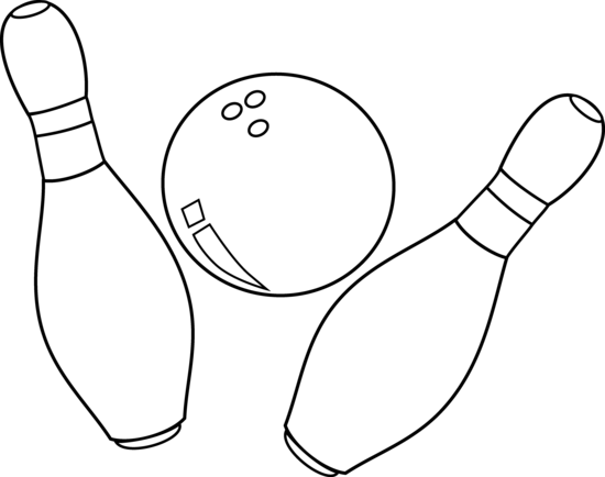 Pins drawing bowling. Clip art by white