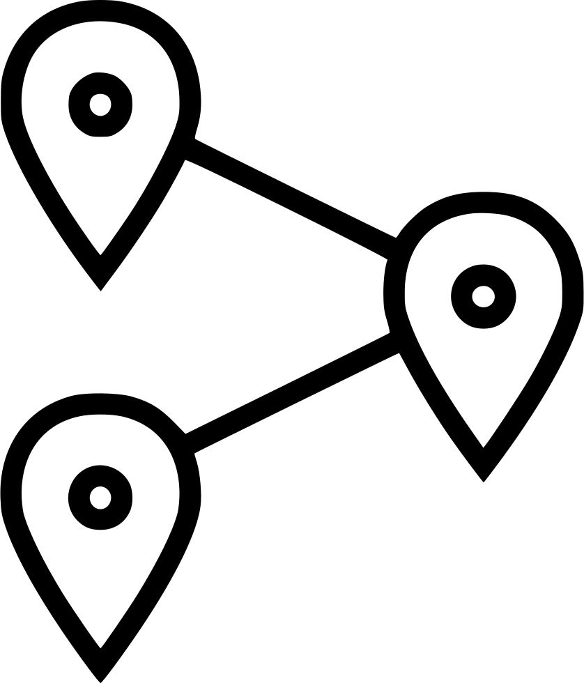 Pins drawing extra long. Gps locations locate svg