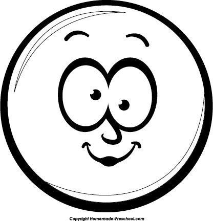 Pins drawing face. Smiley grin bw image