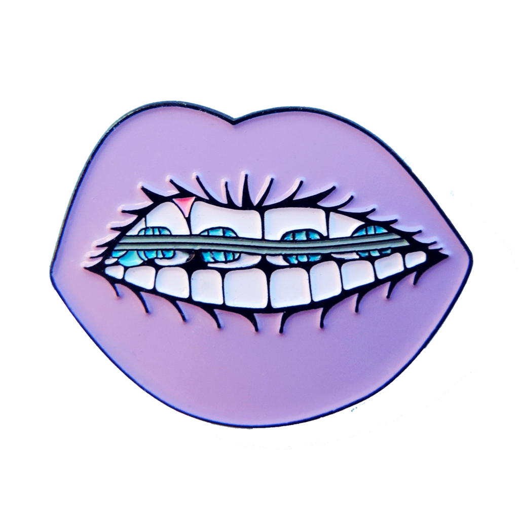 Pins drawing lip. Cool braces pin patches