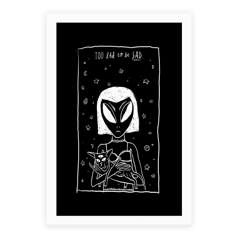 T drawing poster. Print aliens posters lookhuman