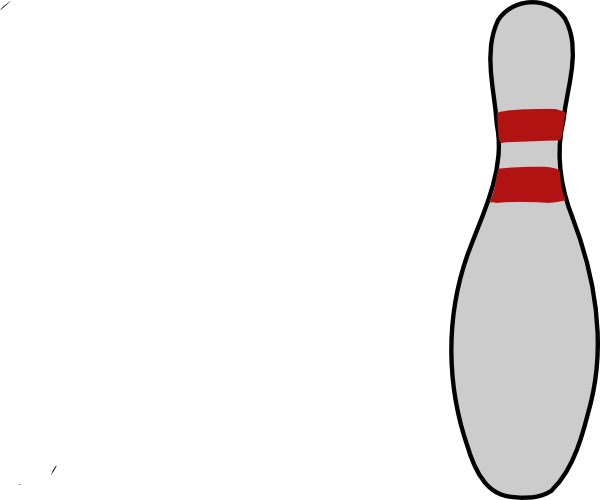 Pins drawing vector. Bowling pin clip art