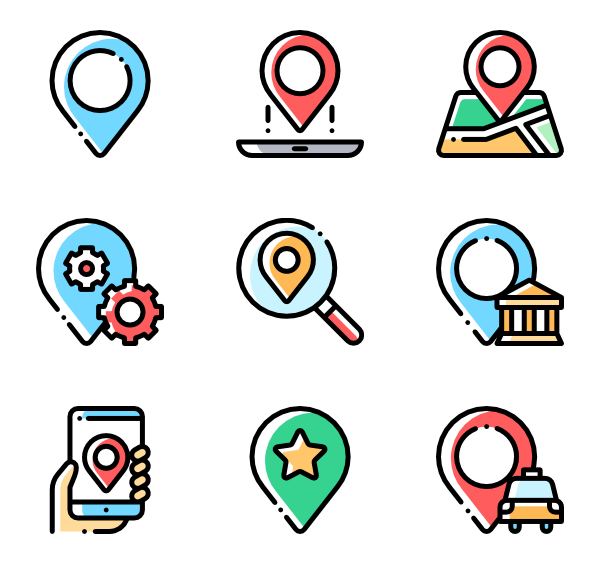 Pins vector location sign. Pin icons free