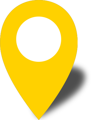 Pins vector location sign. Simple map pin icon