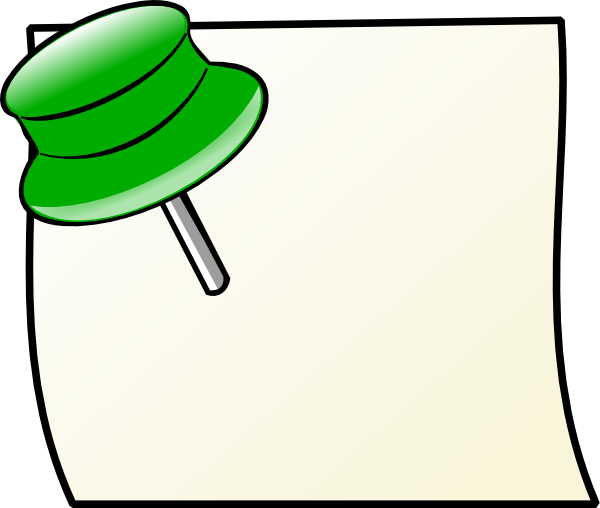 Pins vector memo. Note with pin clip