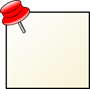 Reminder clipart gentle. Note with pin clip