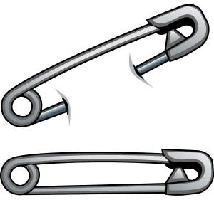 Pins vector safety pin. By cyberscooty distractions hobbies