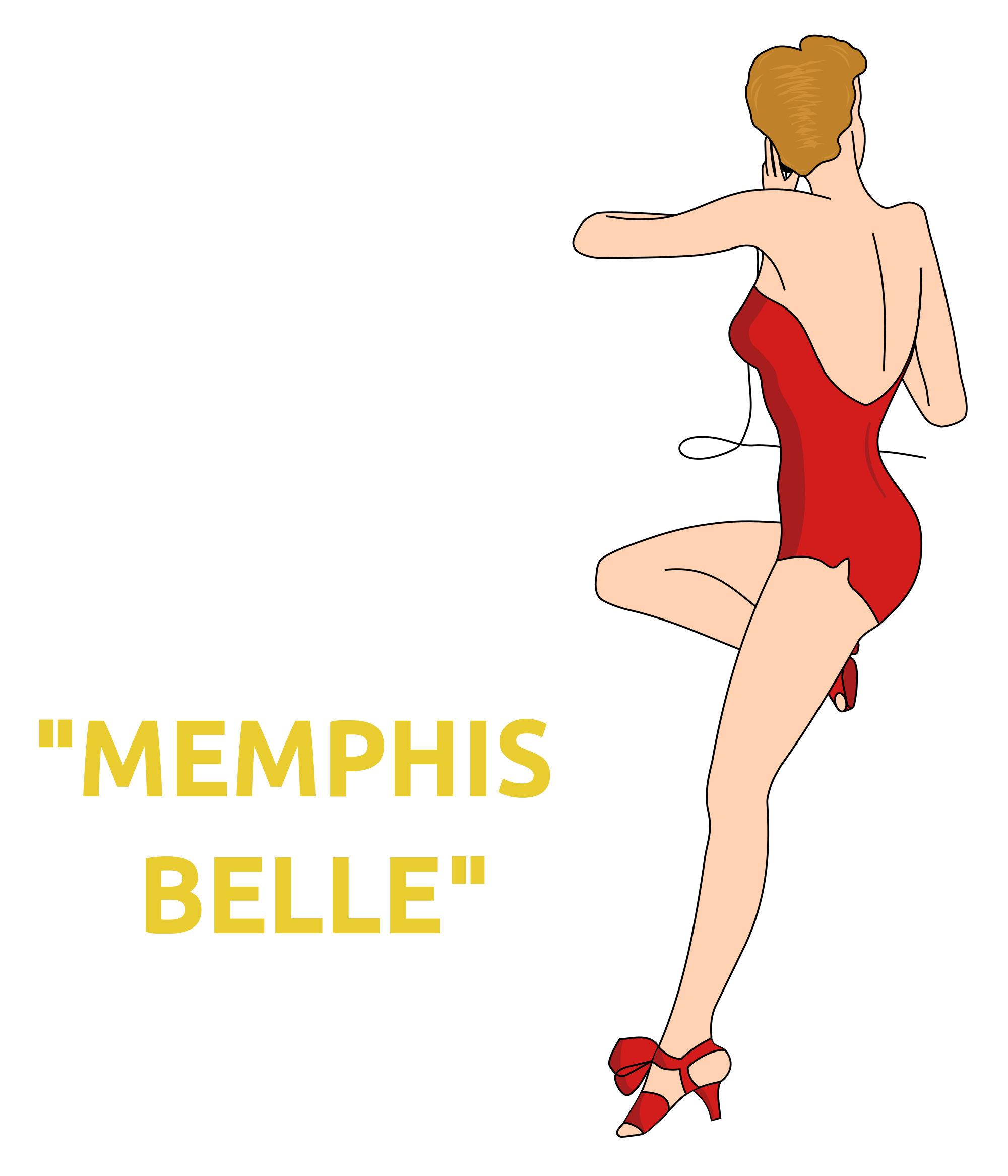 Pinup vector. File memphis belle pin