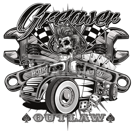 Vector pinstripes hot rod. Greaser outlaw cool ideas