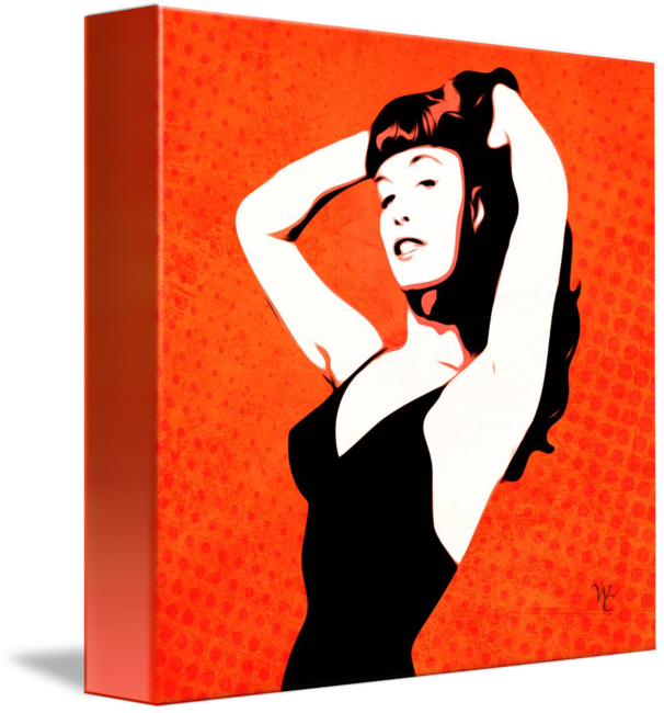 Pinup vector miltary. Bettie page pin up