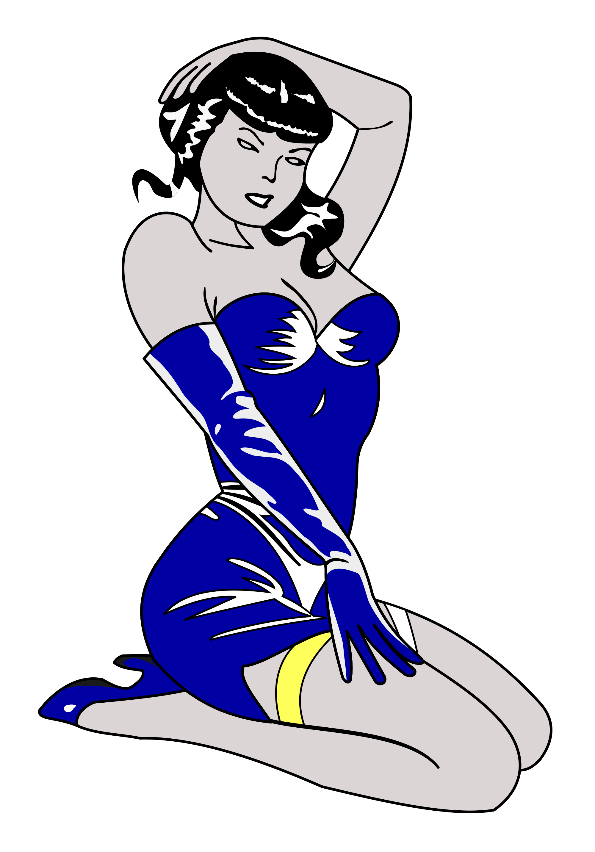 Pinup vector svg. File pin up blue