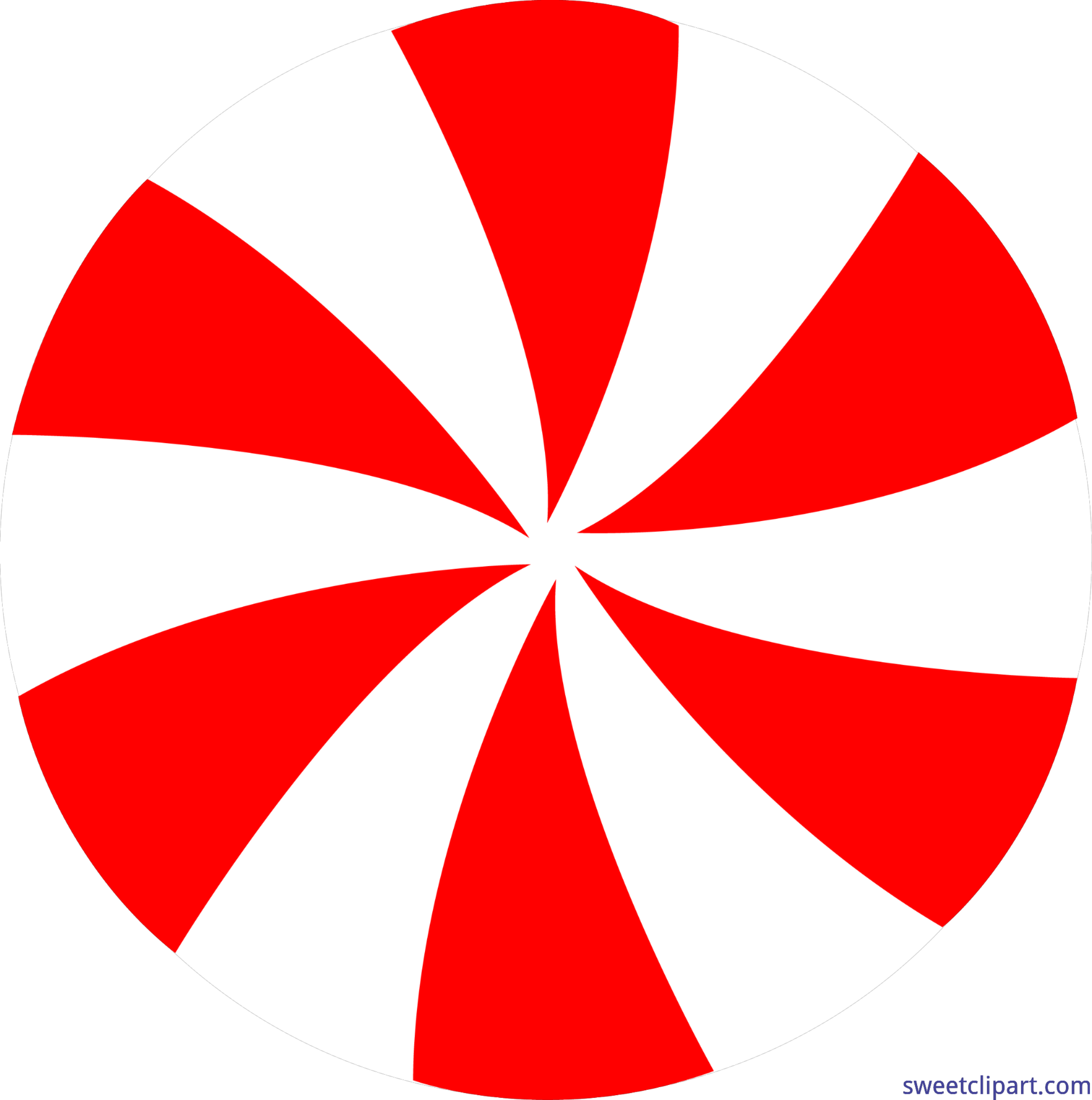 Pinwheel drawing. Candy peppermint red clip