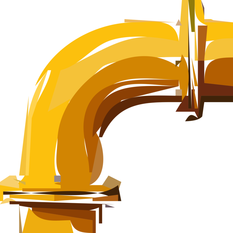 Vector pipe water tube. Bending yellow free commercial