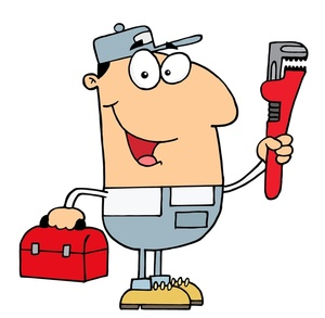 Pipe clipart cartoon. Free plumber image acclaim
