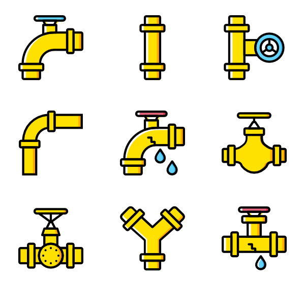 Vector pipes icon. Water pipe packs