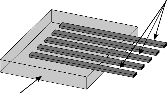 Pipette drawing black and white. Schematic of a micromachined