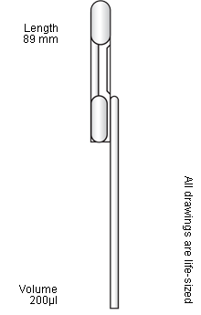 Pipette drawing reading. Exact volume pasteur pipettes