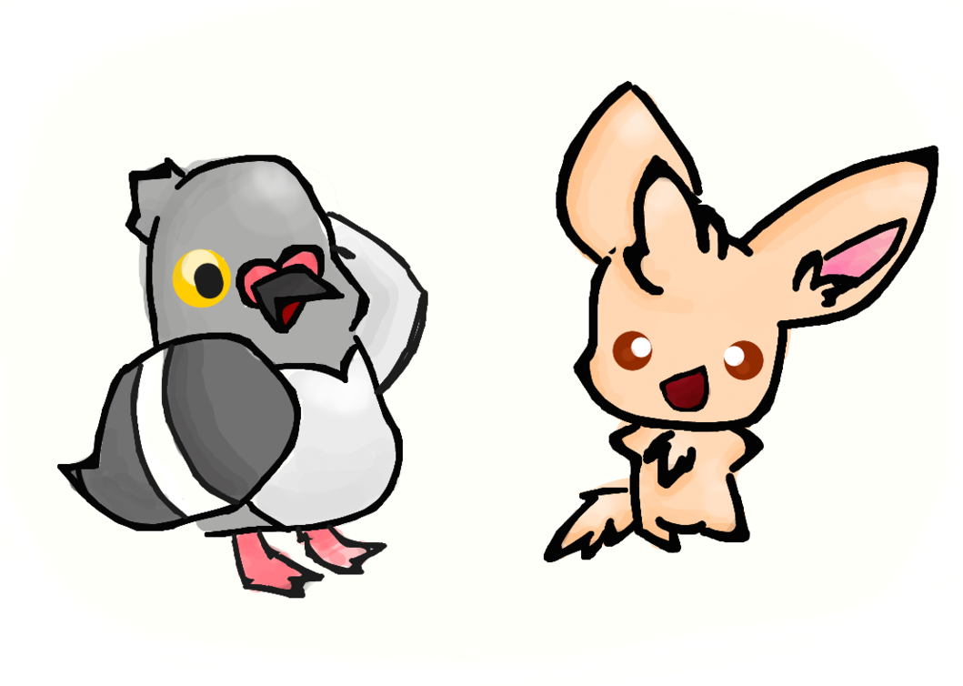 Piplup drawing real life. Pidove and minccino by