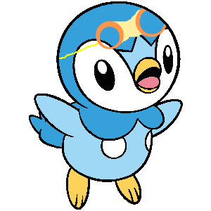 Population drawing animated. Poro little piplup by