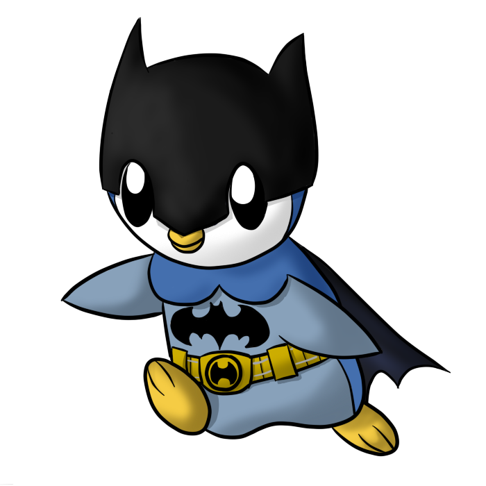 Piplup drawing. Batman by heidi on