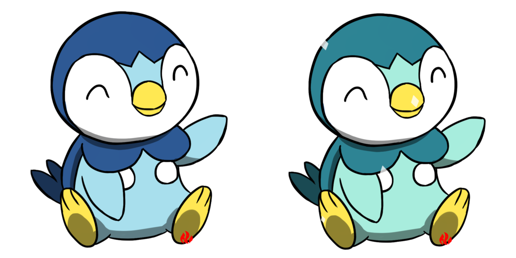 Pokemon by fyreglyphs on. Piplup drawing realistic vector transparent stock
