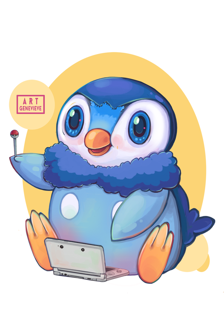 Piplup drawing cute. Gamer by g ny
