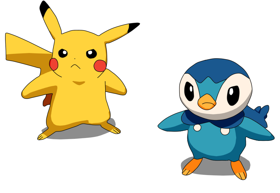 Piplup drawing emo. Pikachu and by gilang