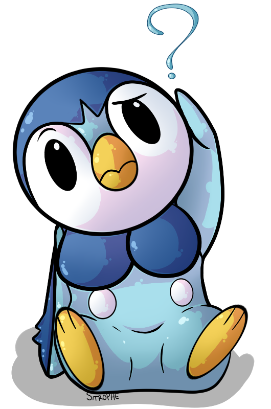 Piplup drawing emo. Confused by sitrophe on
